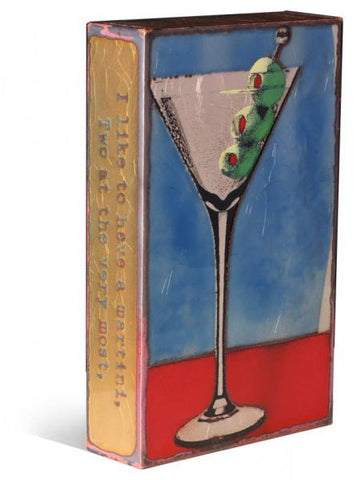 151 Shaken - Glass on Copper Metal Wall Art by artist Houston Llew - Spiritiles