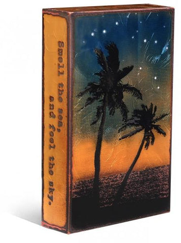180 Sunset Beach - Glass on Copper Metal Wall Art by artist Houston Llew - Spiritiles