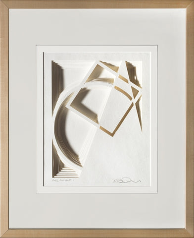 Arc Angle #1 - paper Sculpture by artist William Freer