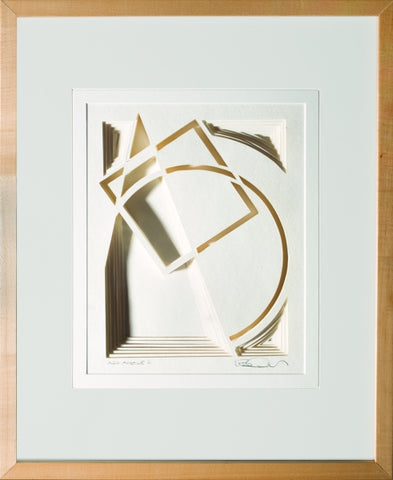 Arc Angle #2 - paper Sculpture by artist William Freer