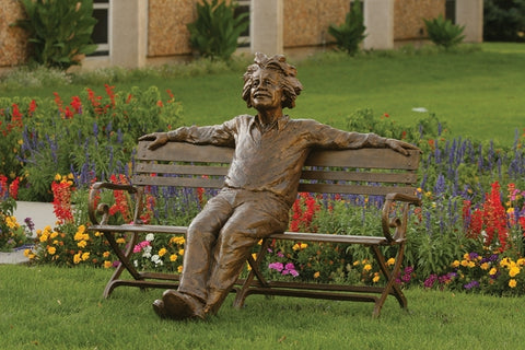 Einstein Bench - Bronze Sculpture by artist Gary Lee Price