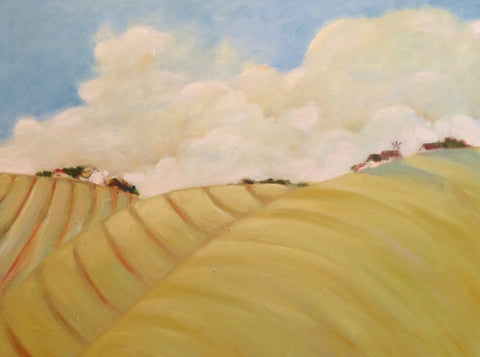 HOME FROM THE FARM - Oil Paintings by artist Constance Patterson