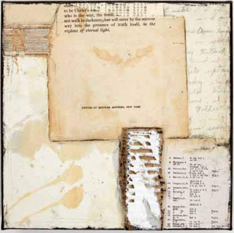 She Held The Light - Collage Mixed Media Collage by artist Crystal Neubauer
