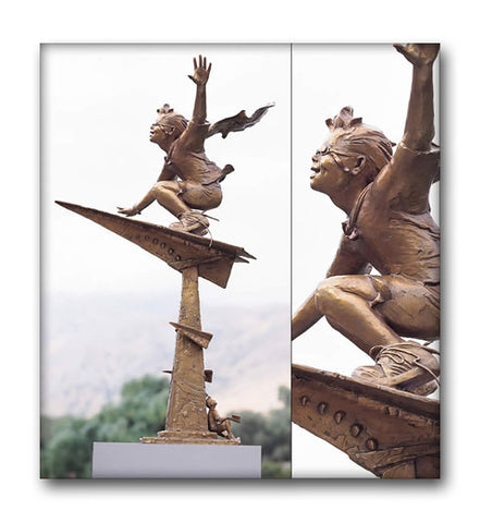 Journeys of the Imagination (Monument) - Bronze Sculpture by artist Gary Lee Price