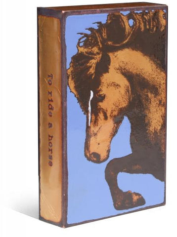 190 Thoroughbred - Glass on Copper Metal Wall Art by artist Houston Llew - Spiritiles