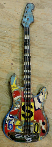 Super Sport Guitar - Mixed Media Sculpture by artist Dave Newman