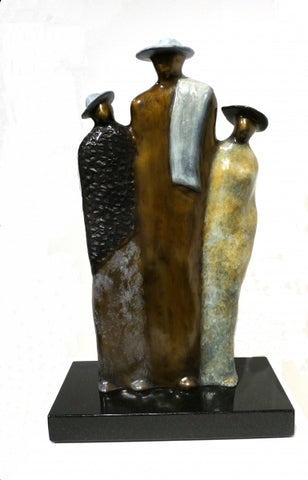 Together but Different - Bronze Sculpture by artist Guilloume