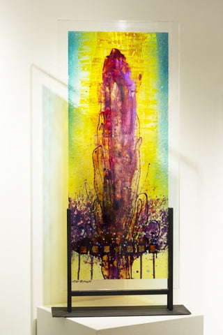 Untitled 25 - Acrylic on Glass Sculpture by artist Allan Rodewald