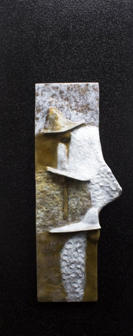 Different Way of Feeling - Bronze Relief on Aluminum Sculpture by artist Guilloume