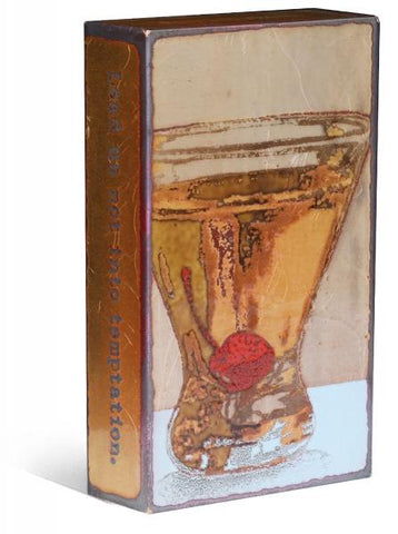 197 Temptation - Glass on Copper Metal Wall Art by artist Houston Llew - Spiritiles