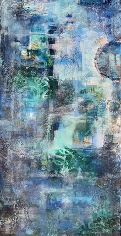 The Ocean is Blue - Mixed Media Paintings by artist Melanie Ferguson Art