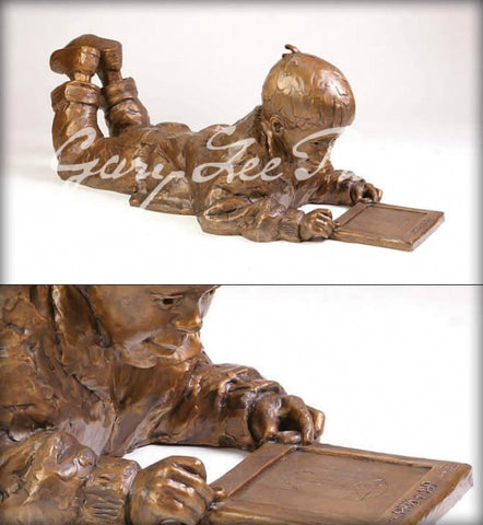 Etch-a-Sketch - Bronze Sculpture by artist Gary Lee Price