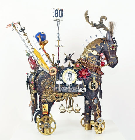 Starz - Found objects & parts Sculpture by artist John Stebila
