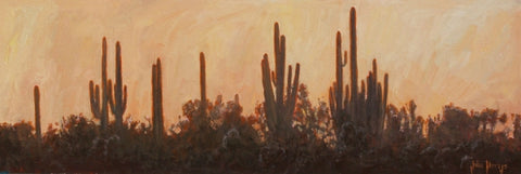 Dusk on the Desert - Oil Paintings by artist John Horejs