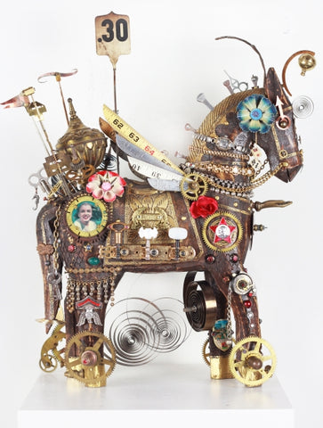 Starz Too - Found objects & parts Sculpture by artist John Stebila