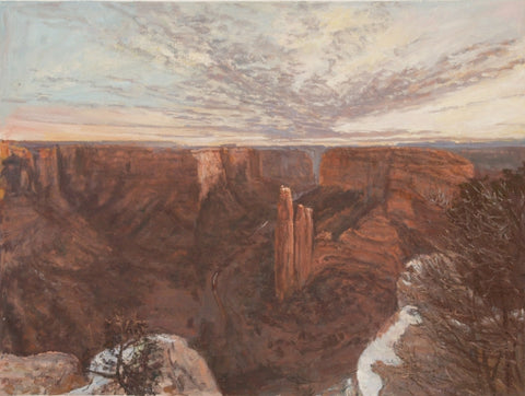 Canyon de Chelly Snow - Oil Paintings by artist John Horejs