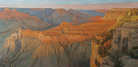 Canyon Shadows - Oil Paintings by artist John Horejs