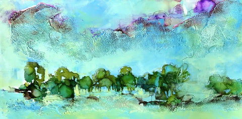 Spring in the Country - Mixed Media Paintings by artist Melanie Ferguson Art