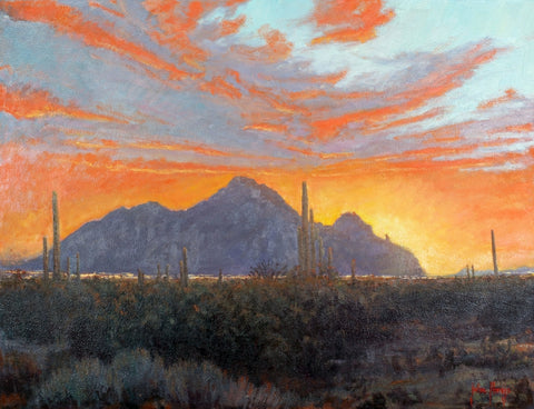 Camelback Monsoon - Oil Paintings by artist John Horejs