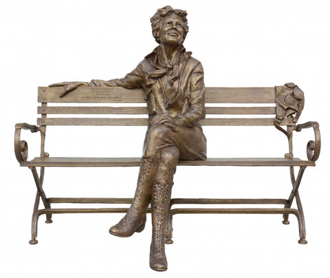Amelia Earhart-Introductory Special - Bronze Sculpture by artist Gary Lee Price