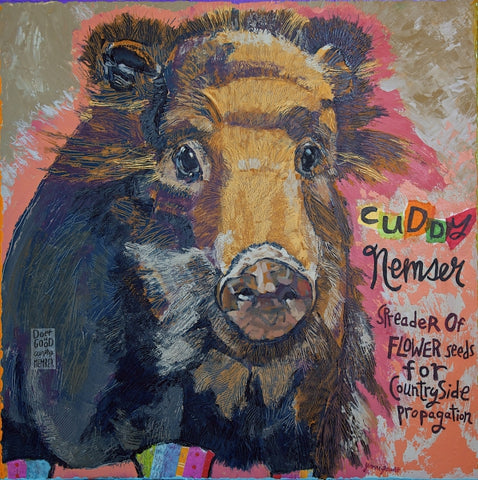 Cuddy Nemser - Mixed Media on Panel Paintings by artist Yvonne Gaudet