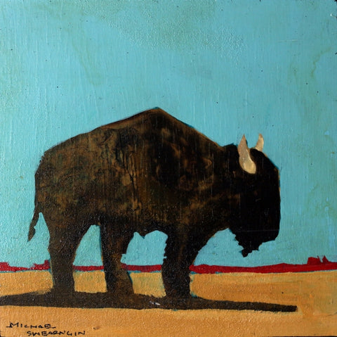 Bison Day II - 1701 - Acrylic /Mixed Media Paintings by artist Michael Swearngin