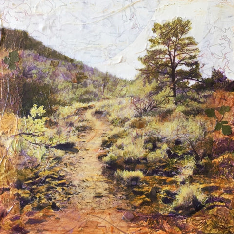 Twilight Trail - Mixed Media on Panel Convergent Media by artist Judith Monroe