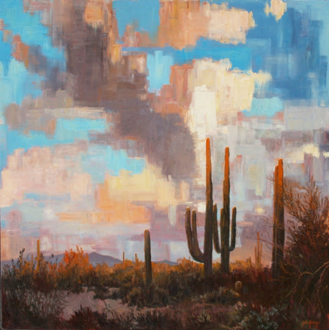 Sonoran Sky Colors - Oil Paintings by artist John Horejs