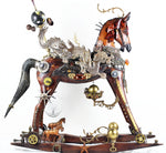 Dragonista - Found objects & parts Sculpture by artist John Stebila