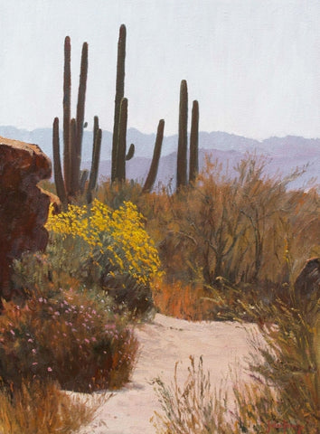 Desert Springtime - Oil Paintings by artist John Horejs