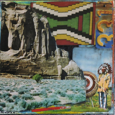 Mesa & Chief - Acrylic /Mixed Media Collage by artist Dave Newman