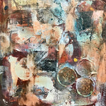 Vintage Finds - Mixed Media on Panel Paintings by artist Melanie Ferguson Art