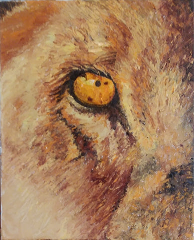 Here's Lookin' at You #1 Diptch - Oil Paintings by artist Betty L. Mitchell