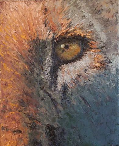 Here's Lookin You #2 Diptych - Oil Paintings by artist Betty L. Mitchell