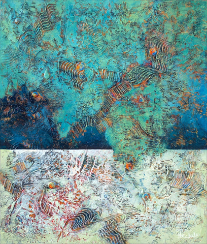 Exploring The Reef - Acrylic Paintings by artist Nancy Eckels