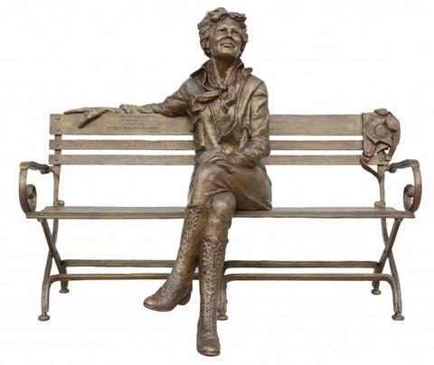 Amelia Earhart-Intermediate - Bronze Sculpture by artist Gary Lee Price
