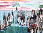 Single Tree Waterfall - Acrylic Paintings by artist Laura Polanco