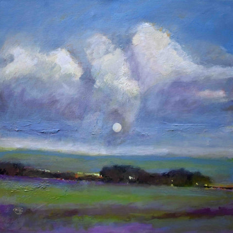 Moon In The Clouds - Acrylic Paintings by artist Kip Decker