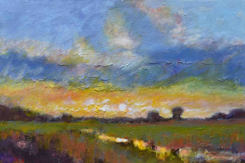 Pasture Reflections - Acrylic Paintings by artist Kip Decker
