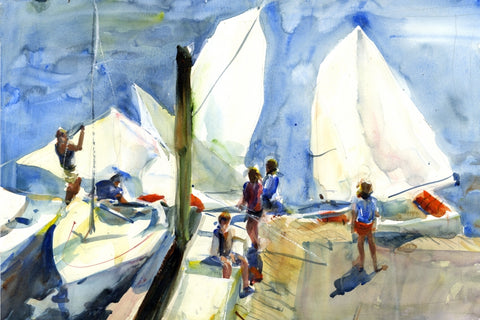 Takedown Lesson - Watercolor Paintings by artist Gordon France