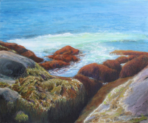 Lobster Cove Monhegan -  Paintings by artist Mike L'Antigua