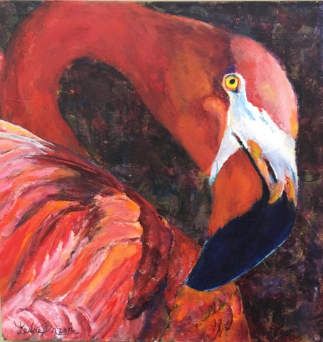 Flamingo - Acrylic Paintings by artist Leslie Moody