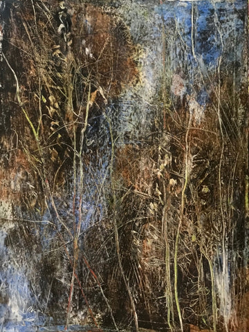 Mytic Thicket - oil/cold wax Paintings by artist Barbara Bagan
