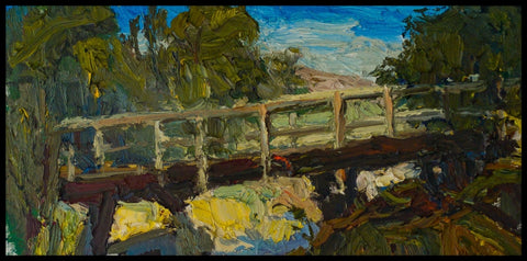 Dry Creek Bridge - Oil Paintings by artist Brian Cote