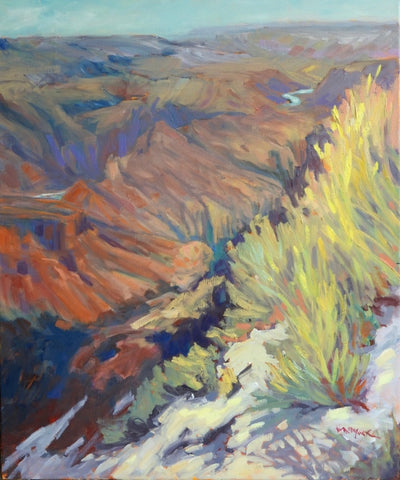At the Rim - oil on linen Paintings by artist Kathy M Haycock SCA AFC OSA