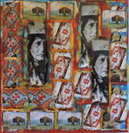 Native Quilt Series 9111 - Acrylic /Mixed Media Paintings by artist Dave Newman