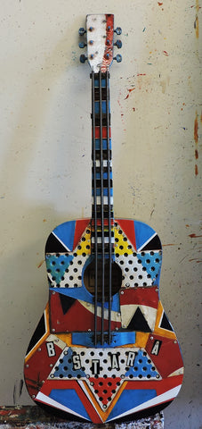 B A Star Guitar - Mixed Media Sculpture by artist Dave Newman