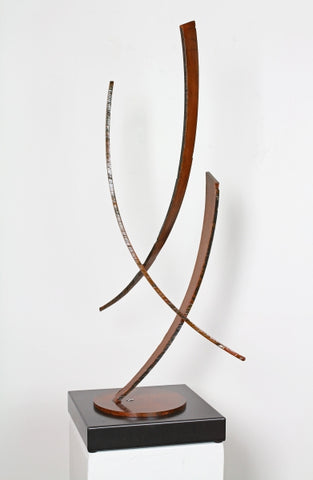 Swept Away - Steel Sculpture by artist Dan Toone