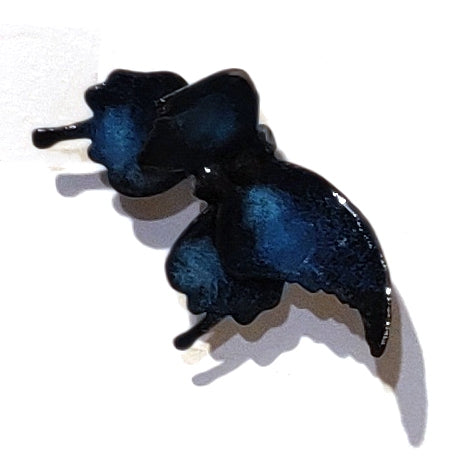 Butterflyor Moth Size 1 - Vitreous Enamel on Steel Sculpture by artist Christie Hackler