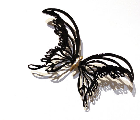 Butterflyor Moth Size 4 - Vitreous Enamel on Steel Sculpture by artist Christie Hackler
